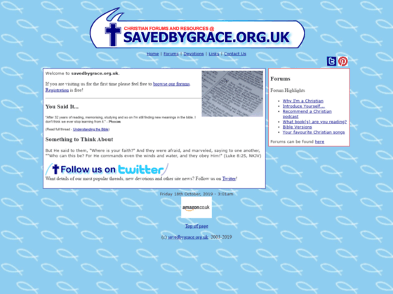 Saved by Grace Christian Forums