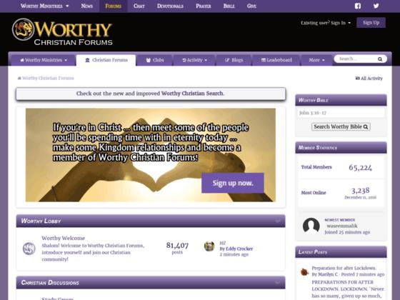 Worthy Christian Forums
